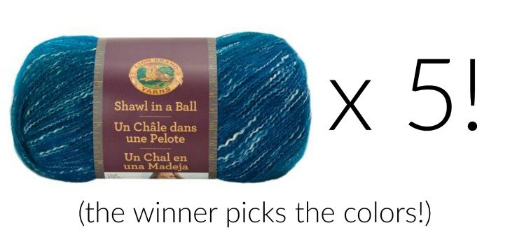 Lion Brand Shawl in a Ball!