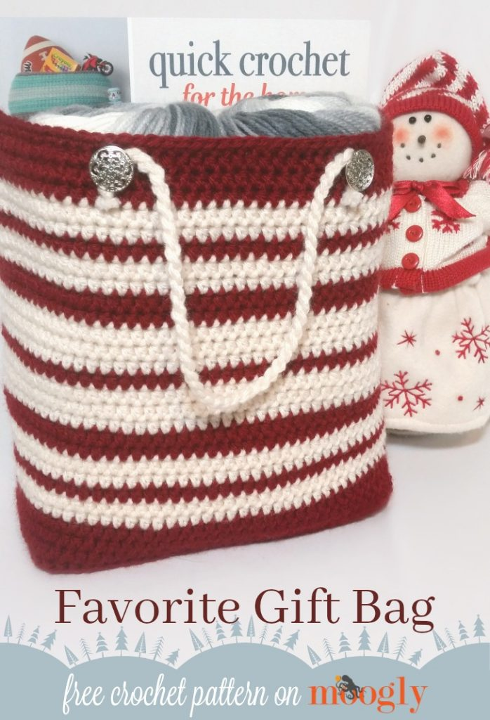 Free Crochet Patterns For Christmas Gift Bags : Favorite Gift Bag - moogly