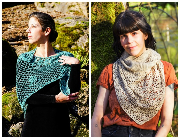 Beautiful shawl patterns by Laurinda Reddig... and there's a story to go with these designs!