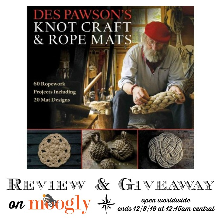Des Pawson's Knot Craft and Rope Mats - giveaway on Moogly! Open worldwide, ends 12/8/16 at 12:15am central US time.