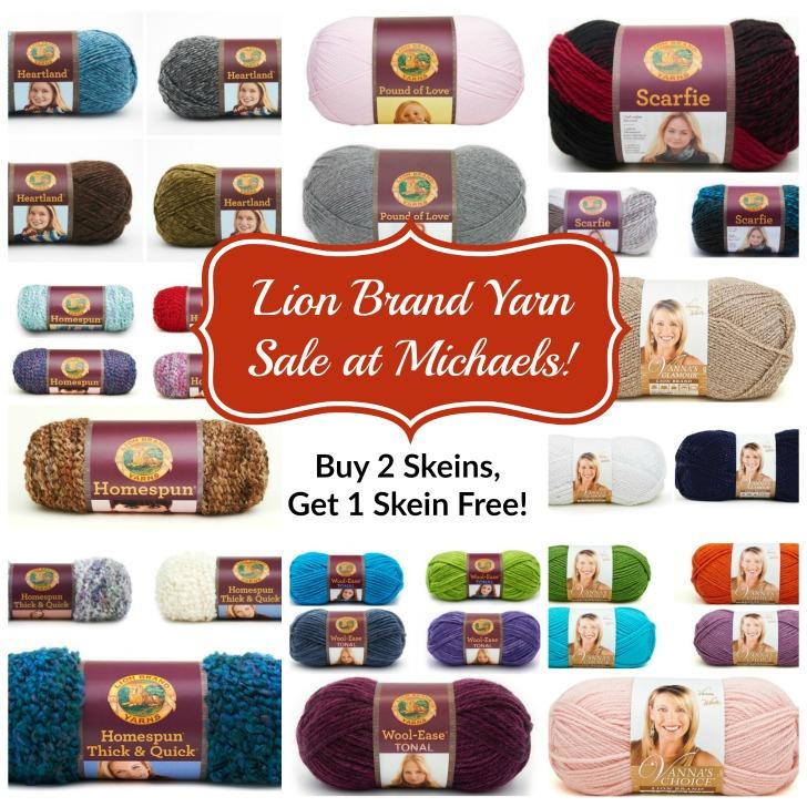 Your Favorite Lion Brand Yarns On Sale Thru Saturday November 19th