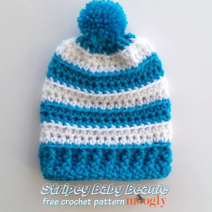 Stripey Baby Beanie - moogly