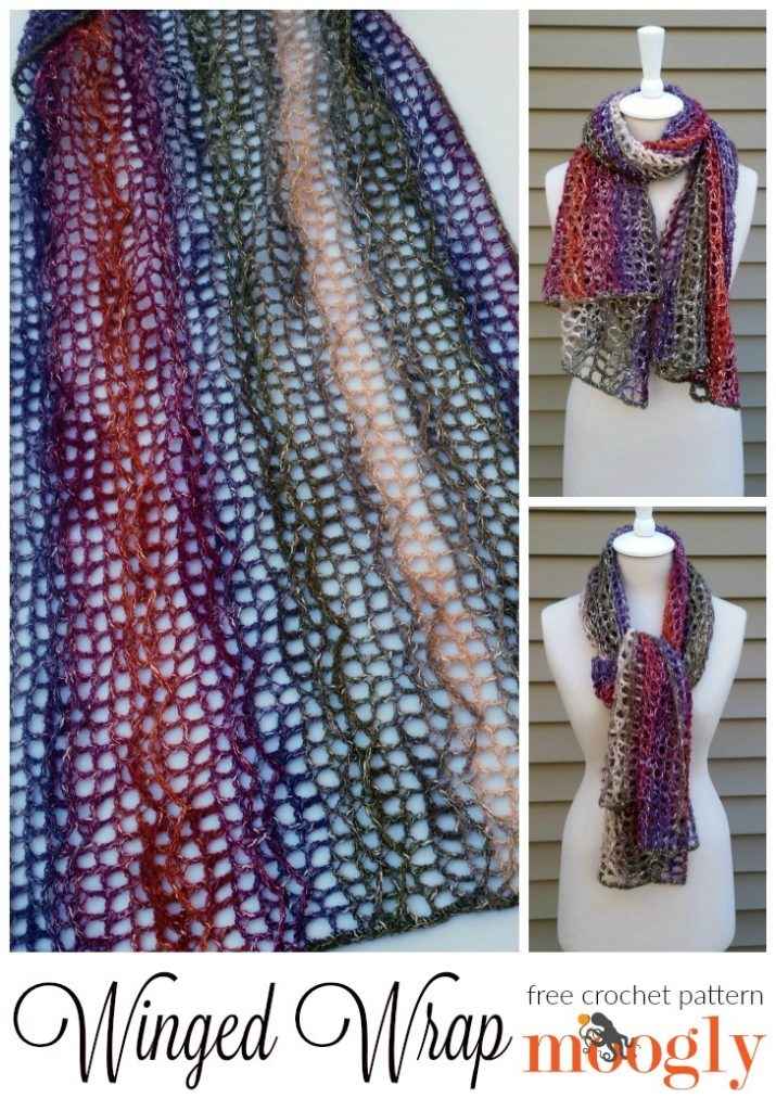 Winged Wrap: Free #Crochet Pattern on Moogly