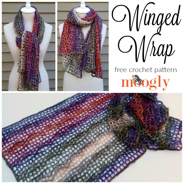 Winged Wrap: free crochet pattern on Mooglyblog.com!