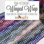 Learn how to crochet the Winged Wrap - a free crochet pattern on Mooglyblog.com!