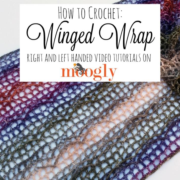 Learn how to crochet the Winged Wrap - a free crochet pattern on Mooglyblog.com!