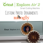 Make custom photo ornaments with the Cricut Explore Air 2 on Moogly!