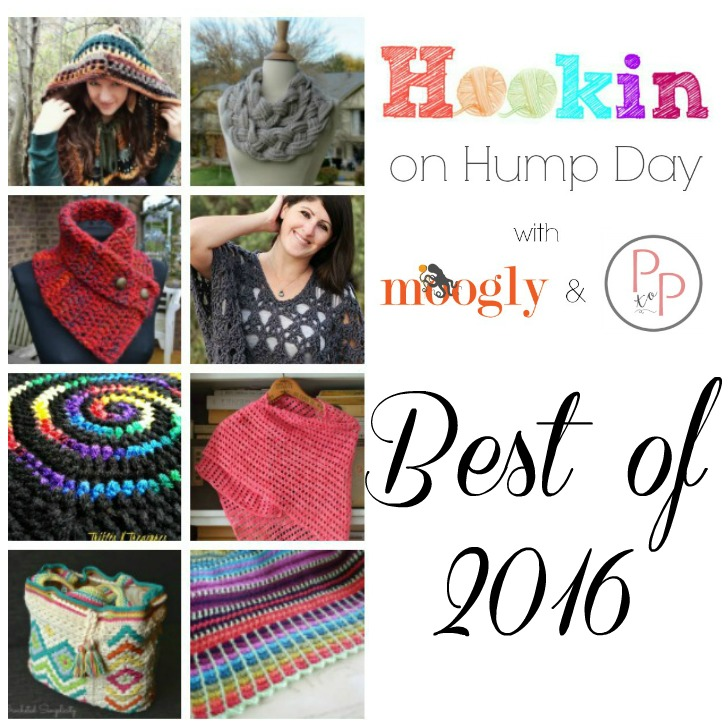 Hookin On Hump Day's Best of 2016 list is here! So many wonderful projects and patterns to make! Don't miss this massive list on Mooglyblog.com!