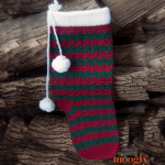 Happy Holidays Stocking - free crochet pattern on Mooglyblog.com!