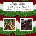Learn how to crochet the Happy Holidays Tree Skirt and matching Stocking - both free patterns on Mooglyblog.com!