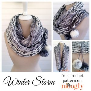 Winter Storm Scarf/Cowl - free crochet pattern on Mooglyblog.com!