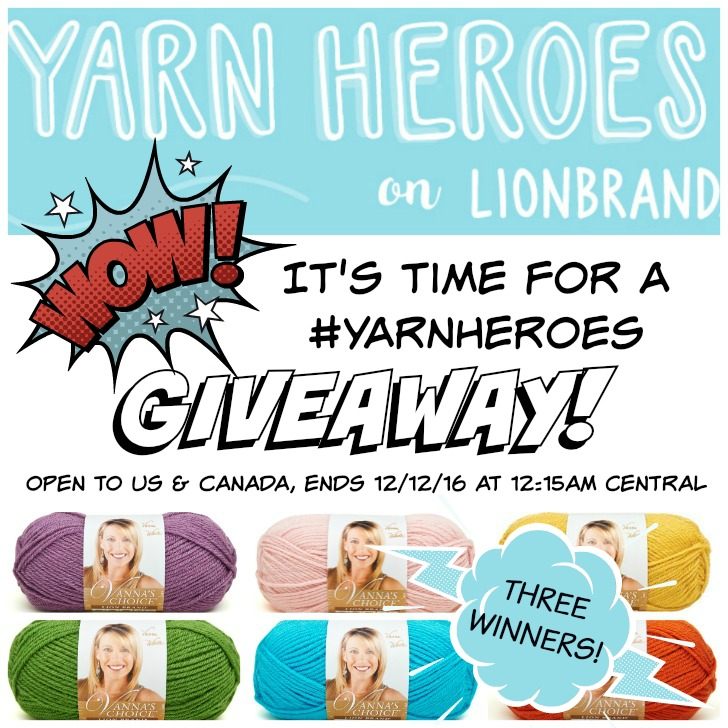 Win Lion Brand Vanna's Choice on Moogly! Open to US and Canada (excluding Quebec), ends 12/12/16 at 12:15am central US time