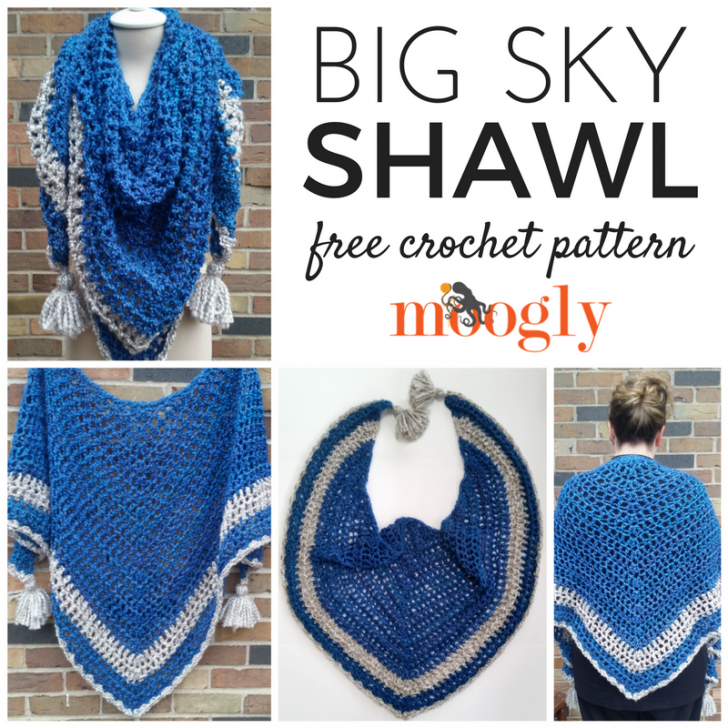 Big Sky Shawl: Free Crochet Comfort/Prayer Shawl Pattern - Moogly