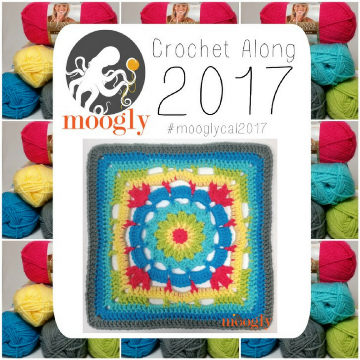 Block #3 for the Moogly Afghan CAL for 2017 is up! Courtesy of Cre8tion Crochet!