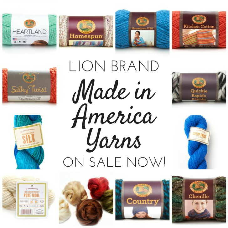 Get 20% off on Lion Brand's Made in America Yarns and Kits now through 1/26/17
