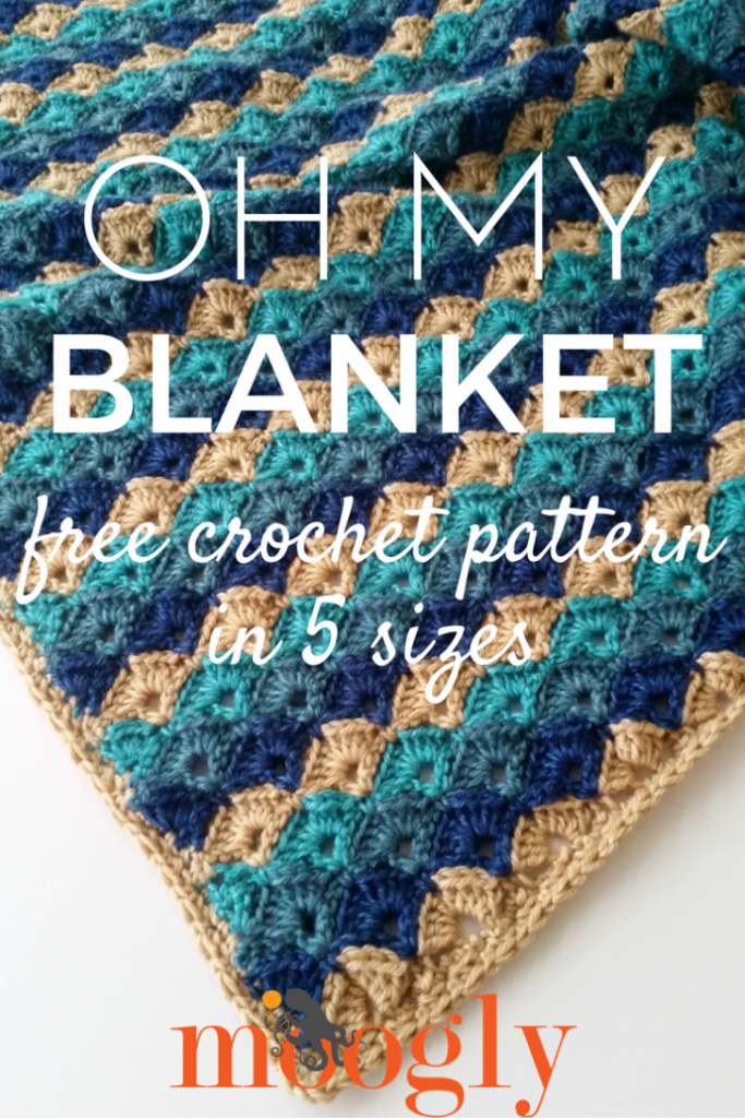 Oh My Blanket - free crochet pattern on Mooglyblog.com!