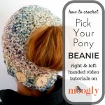 Pick Your Pony Beanie - free crochet pattern with video tutorials on Mooglyblog.com!