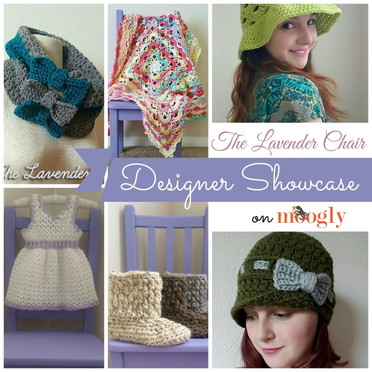 Check out the great crochet designs by Dorianna Rivelli of The Lavender Chair - in the Designer Showcase on Mooglyblog.com! Links to 5 free crochet patterns included!