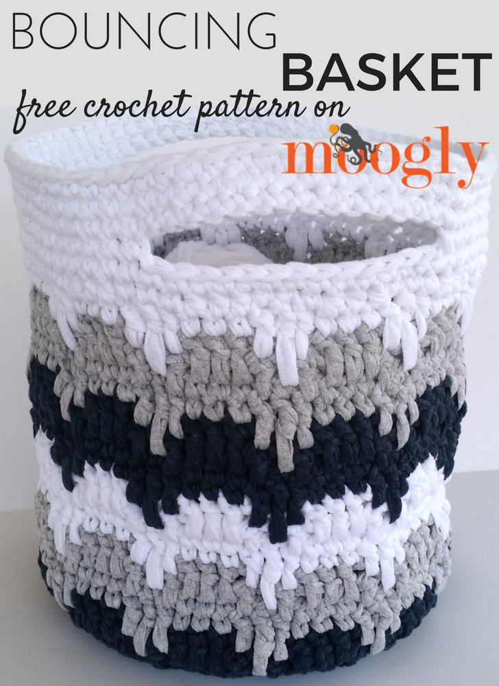 Bouncing Basket - free crochet pattern on Mooglyblog.com!