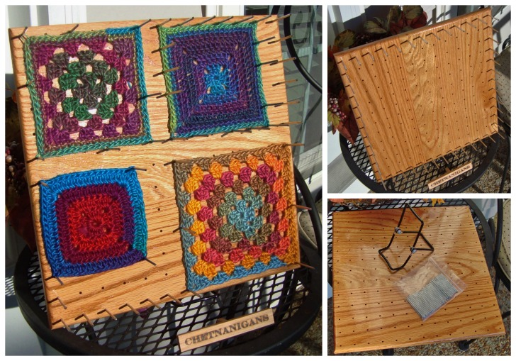 """Chetnanigans BlocksAll - the easiest way to block crochet squares up to 12""""! Read more on Mooglyblog.com"""