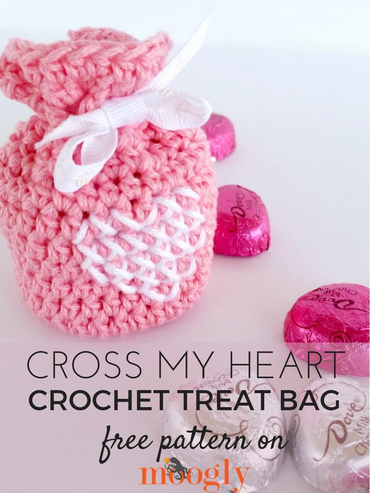 Cross my heart treat bag free crochet pattern moogly cross my heart treat bag dt1010fo