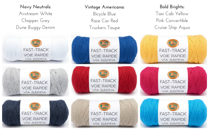 Color Schemes using Lion Brand Fast-Track Yarn!