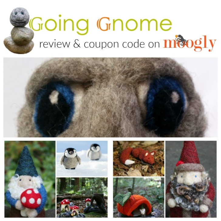 Going Gnome Needle Felting Kit Review and Coupon Code on Mooglyblog.com!