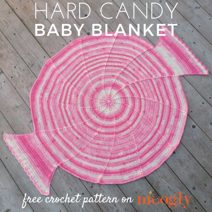 Hard Candy Baby Blanket - free one skein crochet pattern on Mooglyblog.com!