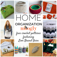 Crochet Home Organization Patterns with Lion Brand Yarn – All Free!
