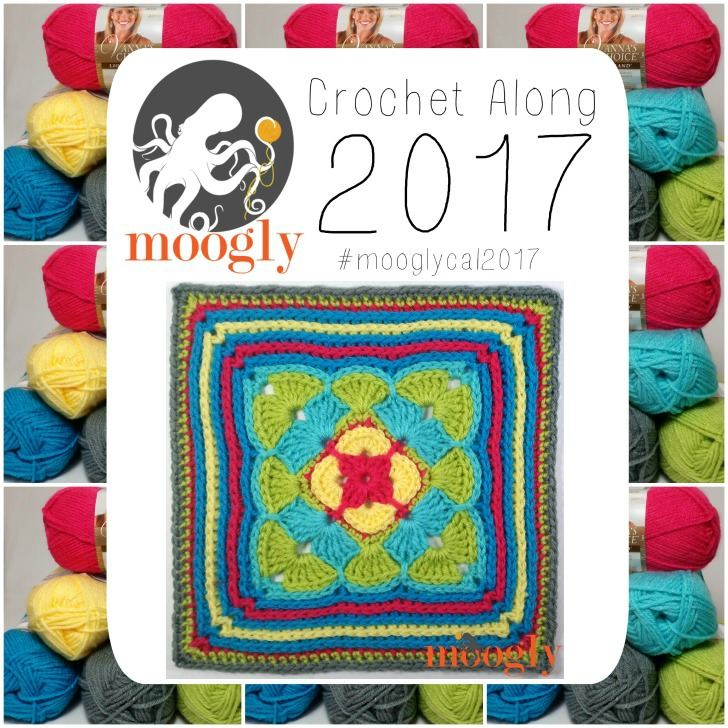 Block #5 in the Moogly Afghan Crochet Along for 2017 - courtesy of Oombawka Design!