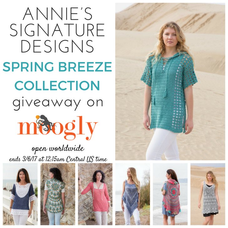 Annie's Signature Designs Spring Breeze Giveaway on Moogly - open worldwide, ends 3/6/17