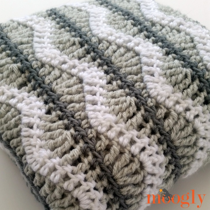 Free Crochet Patterns For Round Baby Blankets : Greyson Baby Blanket - Free #Crochet Pattern on Moogly
