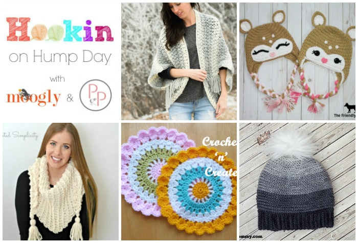 HOHD 138 is up with 5 amazing new FREE patterns for you! Add your own blog links for a chance to be featured on Moogly and Petals to Picots!