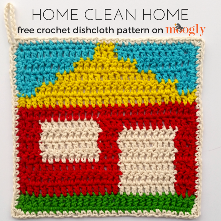 Home Clean Home Dishcloth - Free #Crochet Pattern on Moogly