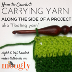 Carrying Yarn Along the Side of a Project