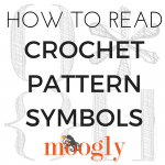 How to Read Crochet Pattern Symbols - get the scoop on what all that punctuation means on Mooglyblog.com!