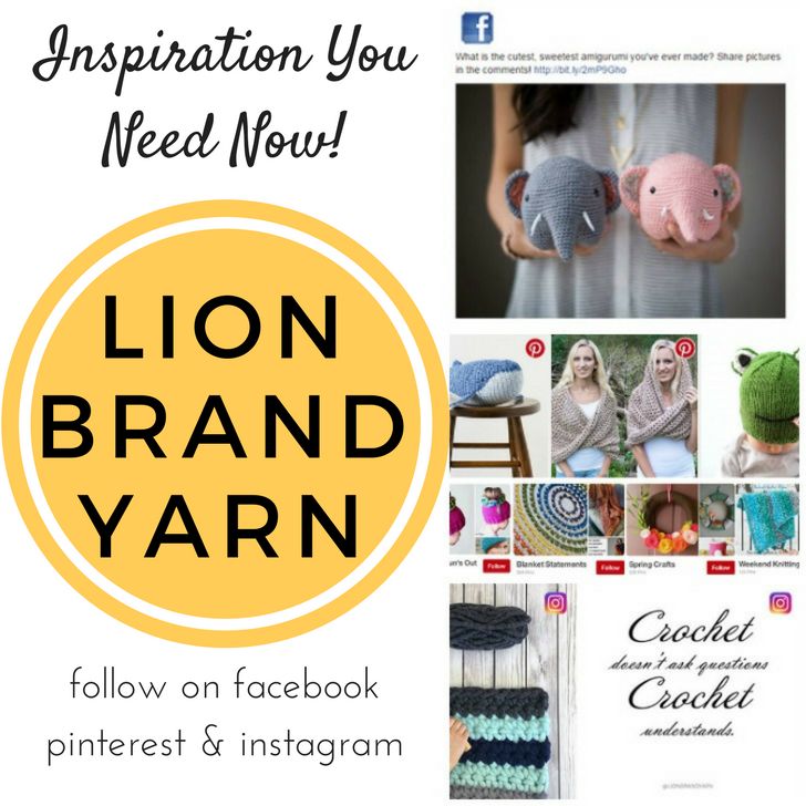 Follow Lion Brand on Social Media for more yarny goodness in your life!