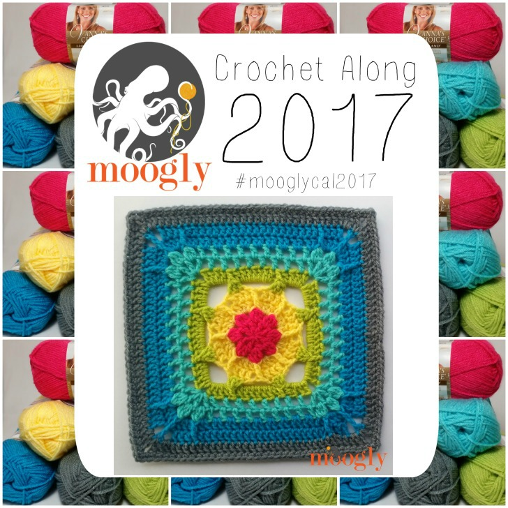 Block #6 in the Moogly Afghan Crochet Along for 2017 - courtesy of Daniel Pink Designs!