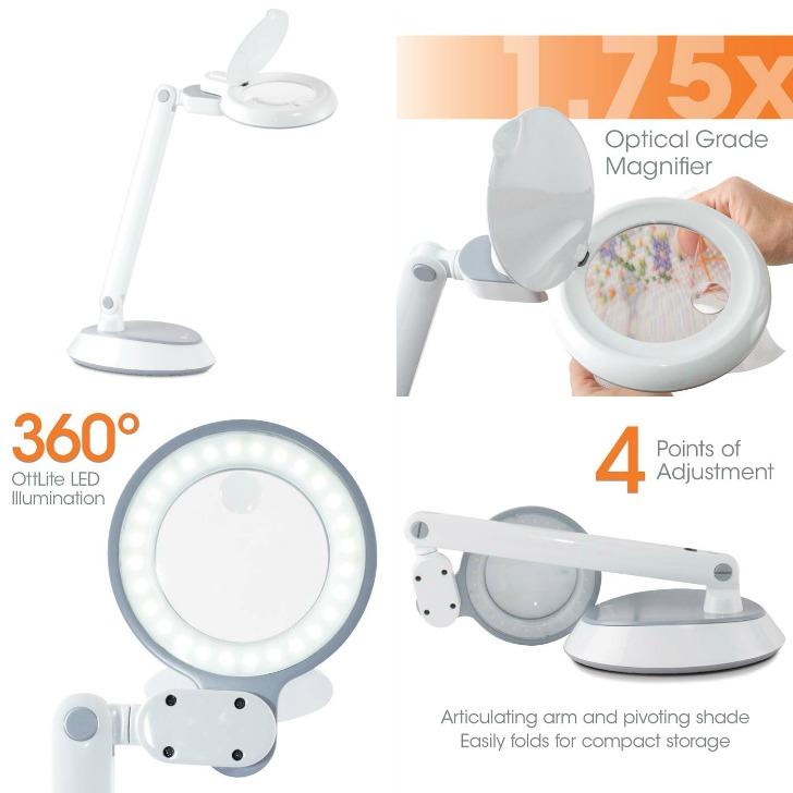 Ottlite Space Saving Led Magnifier Desk Lamp Giveaway On Mooglyblog Com Open To
