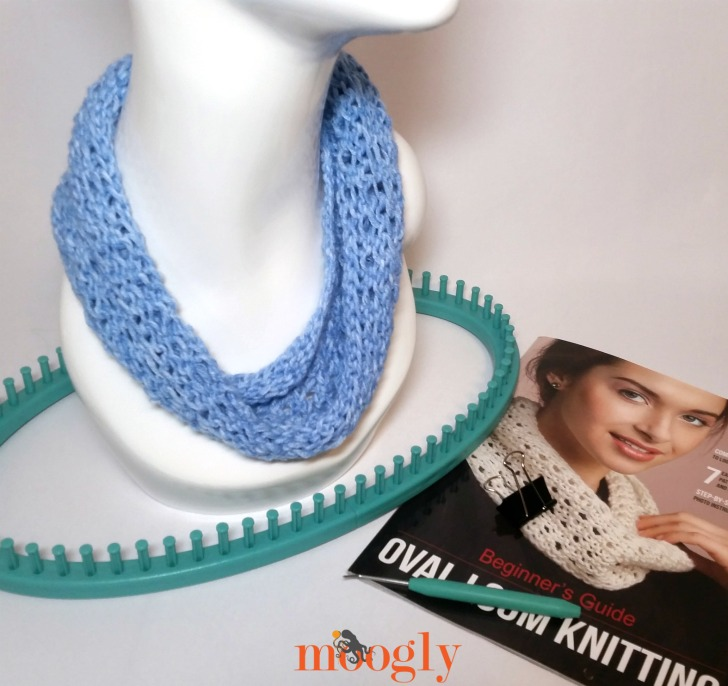 My project made from Leisure Arts' Ultimate Oval Loom Knitting Kit!