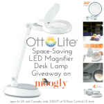 OttLite Space-Saving LED Magnifier Desk Lamp Giveaway!