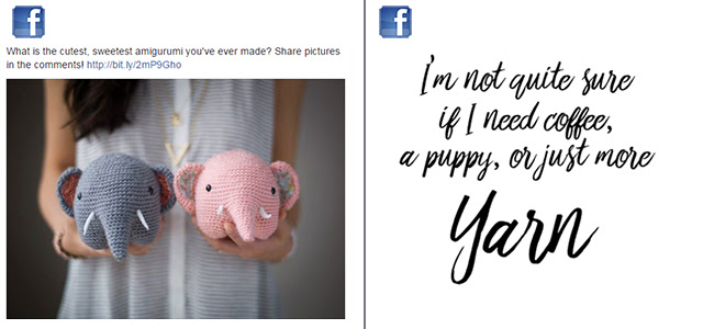 Follow Lion Brand on Social Media for more yarny goodness in your life?