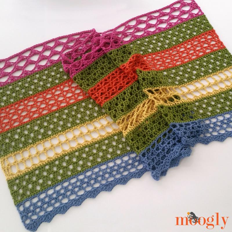 Garden Lace Shawl Free Crochet Pattern On Moogly