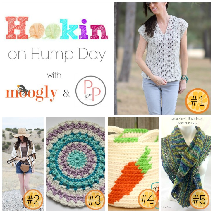 Hookin On Hump Day #141 on Moogly and Petals to Picots - get all these gorgeous patterns, and add your own blog links to this amazing crochet and knitting link party!