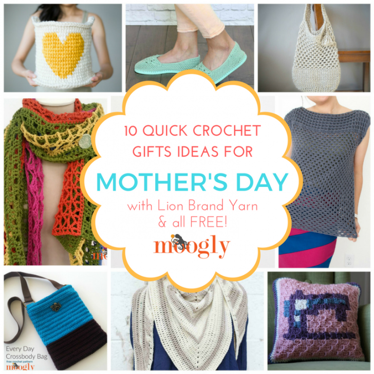 10 Quick Crochet Gifts For Mothers Day Using Lion Brand Yarn Moogly