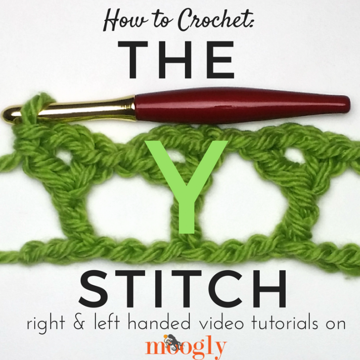Learn how to crochet the Y stitch on Mooglyblog.com!