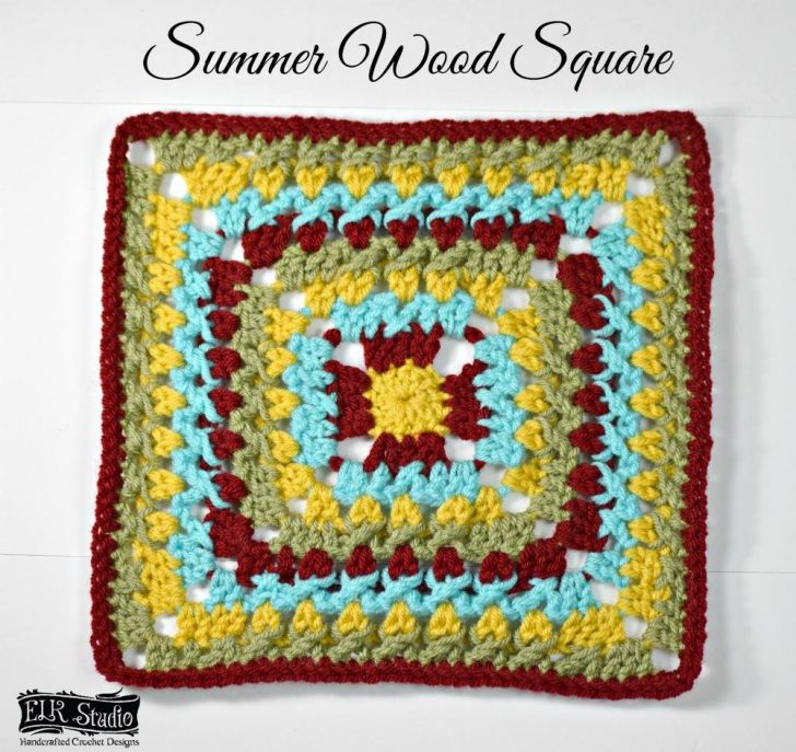Summer Wood Square - free crochet pattern by ELK Studio, designed for the MooglyCAL2017!