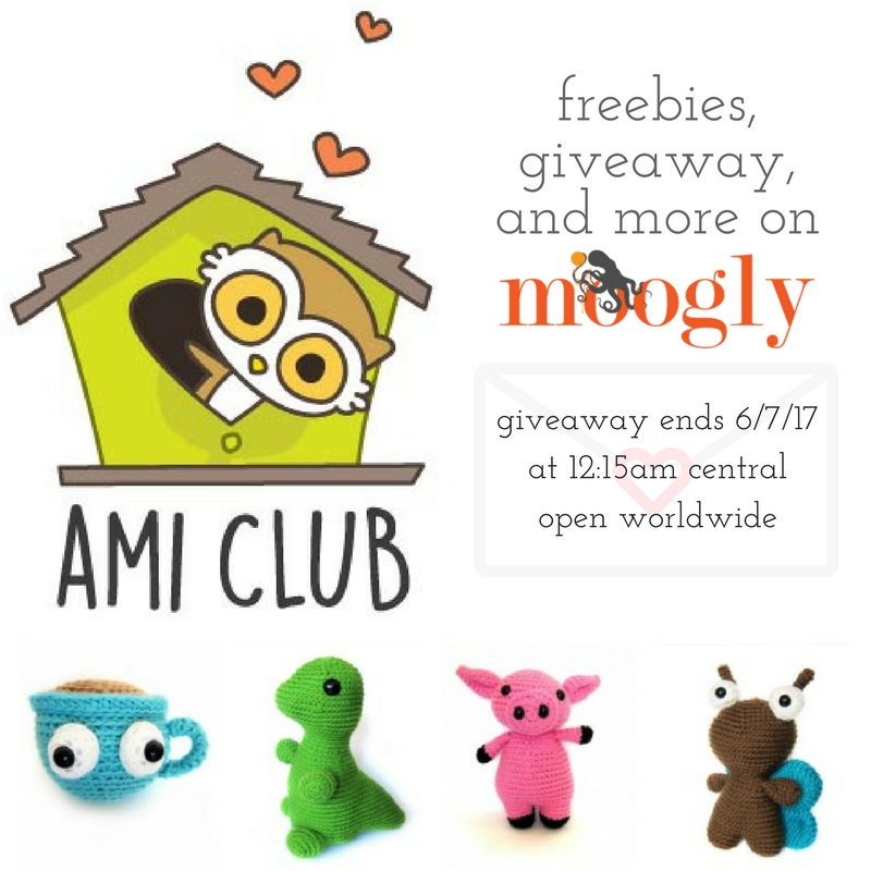Ami Club by FreshStitches: Get the Scoop with the Freebies & Giveaway on Moogly! Giveaway open worldwide, ends 6/7/17 at 12:15am Central US time.
