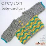 Greyson Baby Cardigan - free crochet pattern on Mooglyblog.com!
