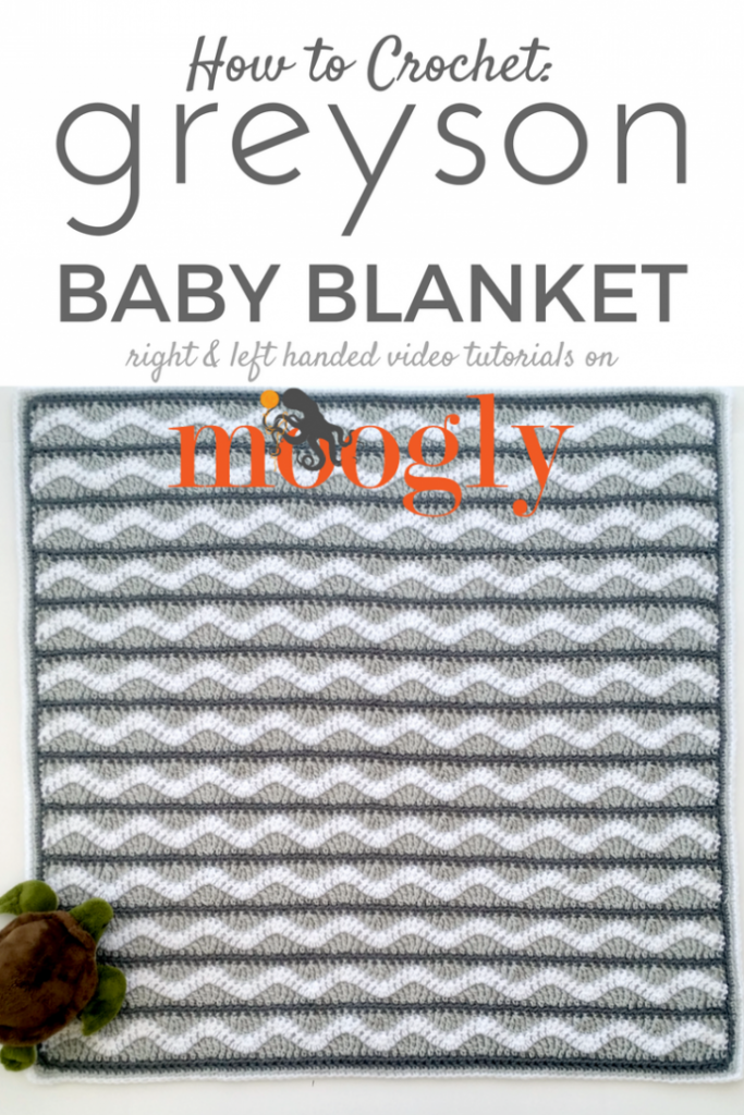 Greyson Baby Blanket - video tutorial for this FREE crochet pattern on Mooglyblog.com!